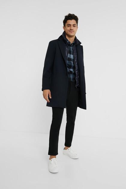 Płaszcz z wewnętrzną kurtką