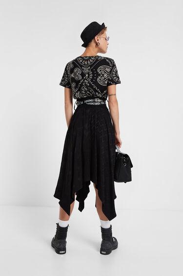 Black & White paisley T-shirt | Desigual
