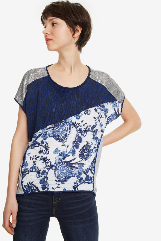 Blue Fabrics Patch T-shirt Ohio | Desigual
