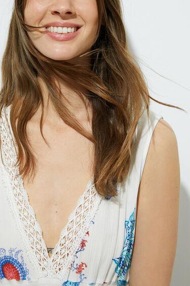 Langes, ärmelloses Kleid   Desigual