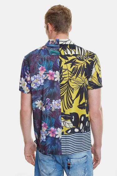 Half-orange Hawaii print shirt | Desigual