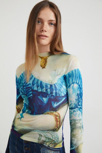 Arty long sleeve T-shirt