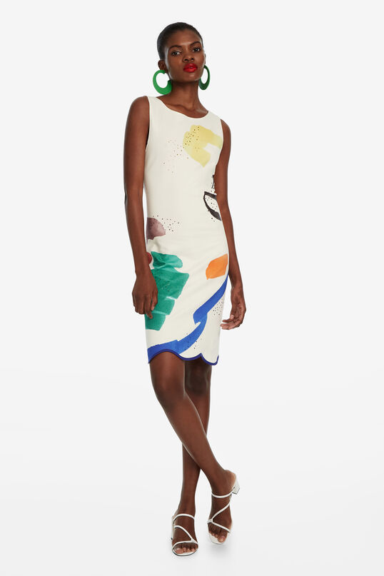 White Dress with Short Skirt Brush | Desigual