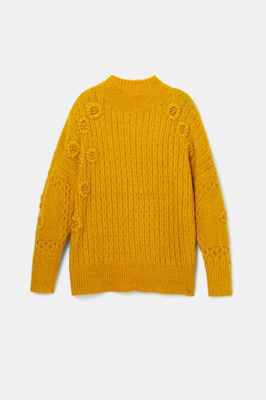 Braided tricot jumper | Desigual