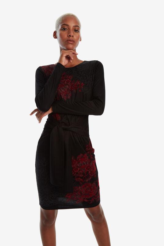Vestido negro con lazada Duna | Desigual