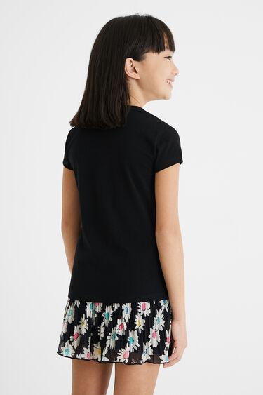 T-shirt met madeliefje en omkeerbare pailletten | Desigual