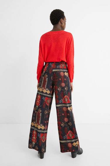 Wide trousers ethnic friezes | Desigual