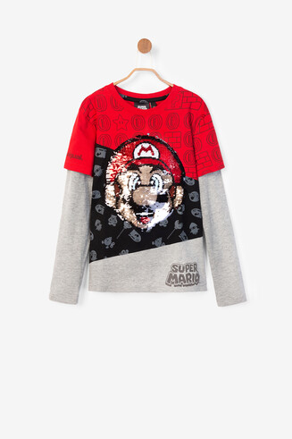 Basic Super Mario double sleeve T-shirt