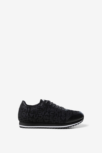 Black logomania sneakers