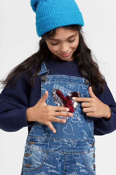 Salopette di jeans stampa bolimanía | Desigual