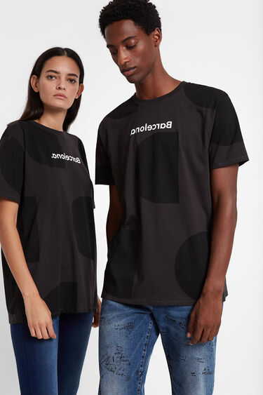 T-shirt Monogram Barcelone | Desigual