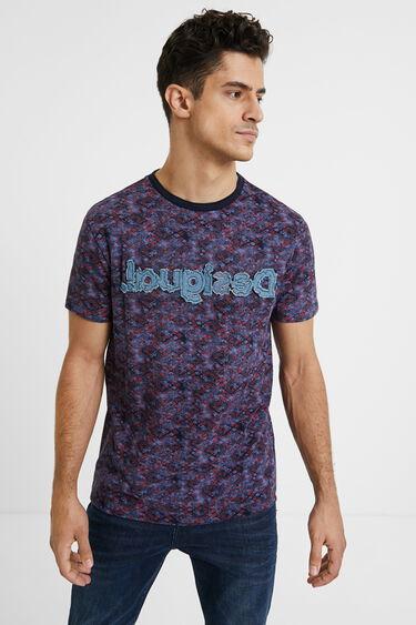 T-shirt imprimé logo jean   Desigual