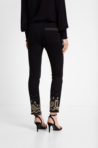 Elastic cropped trousers | Desigual