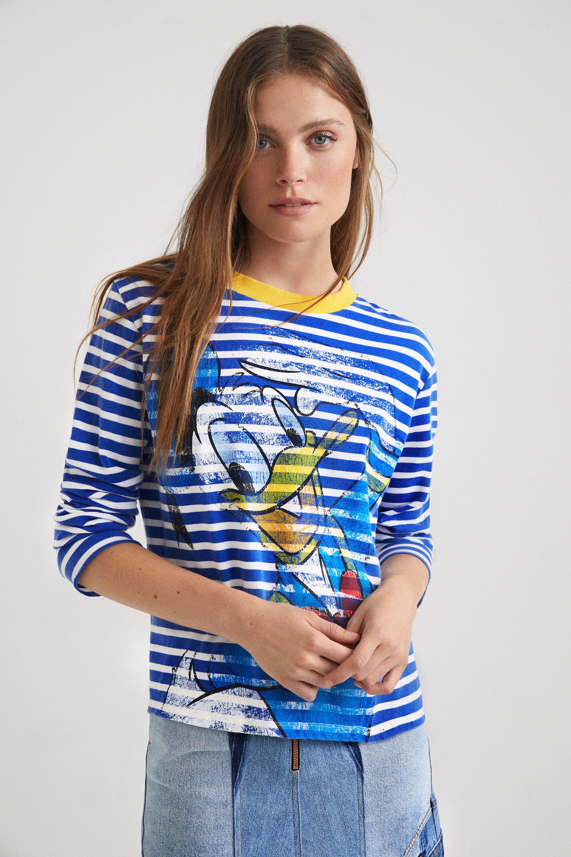 Tee-shirt rayé Donald Duck - BLUE - M - Desigual - Modalova