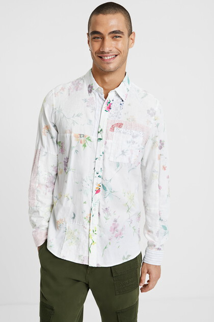 Floral shirt 100% cotton