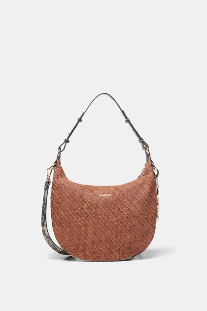 Half-moon bag texture keyring