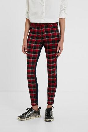 Pantalon en jean skinny tartan
