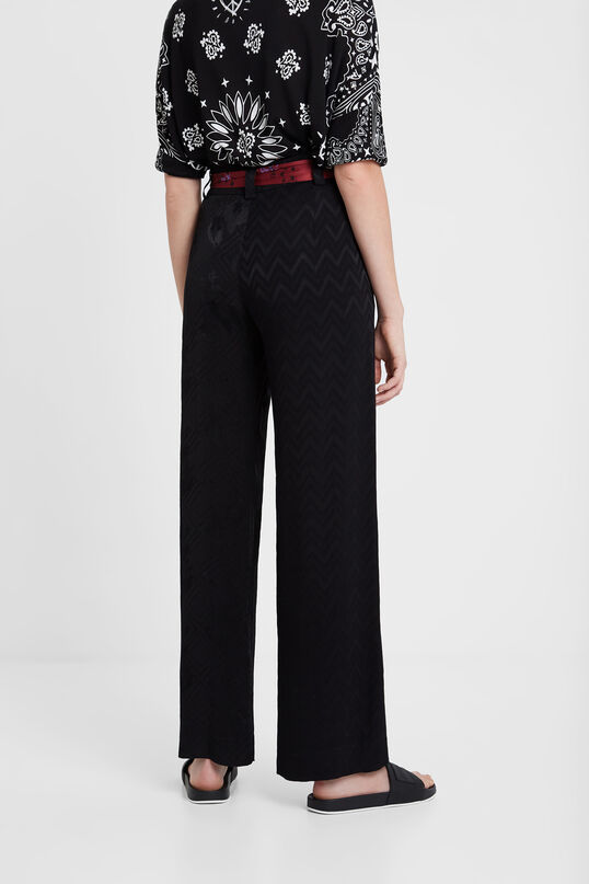 Trousers with scarf belt | Desigual