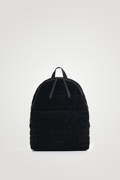 Lightweight quilted backpack