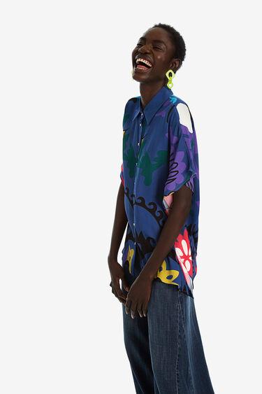 Oversize floral print shirt | Desigual
