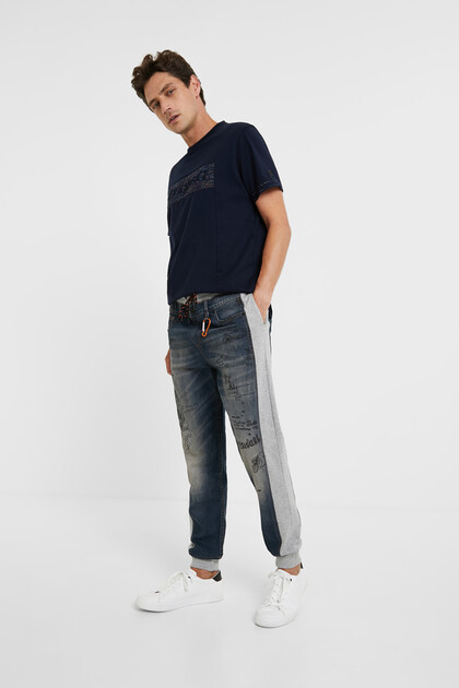 Hybrid denim bolimania trousers