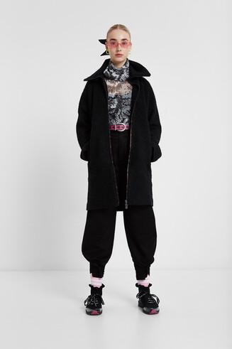 Turtleneck cloth coat