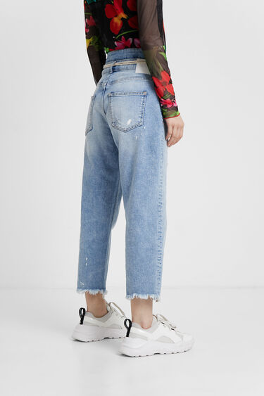 Double waist boyfriend jeans | Desigual