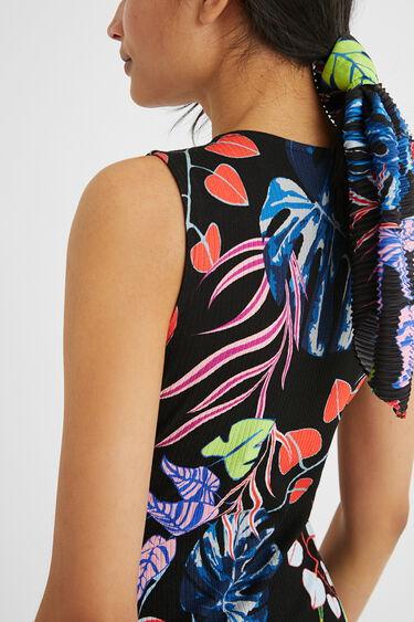 Korte gerimpelde slim fit jurk | Desigual
