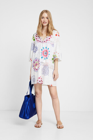 Dress English embroidery and mandalas
