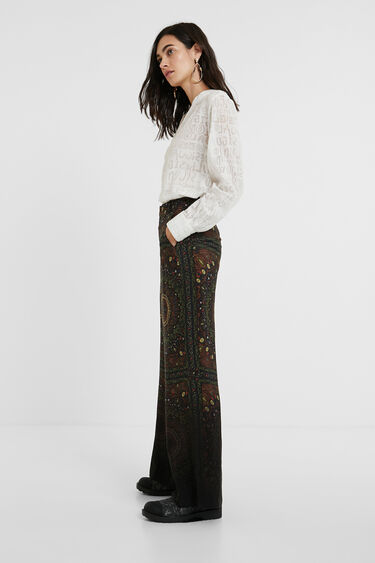Hindu bell bottom trousers | Desigual