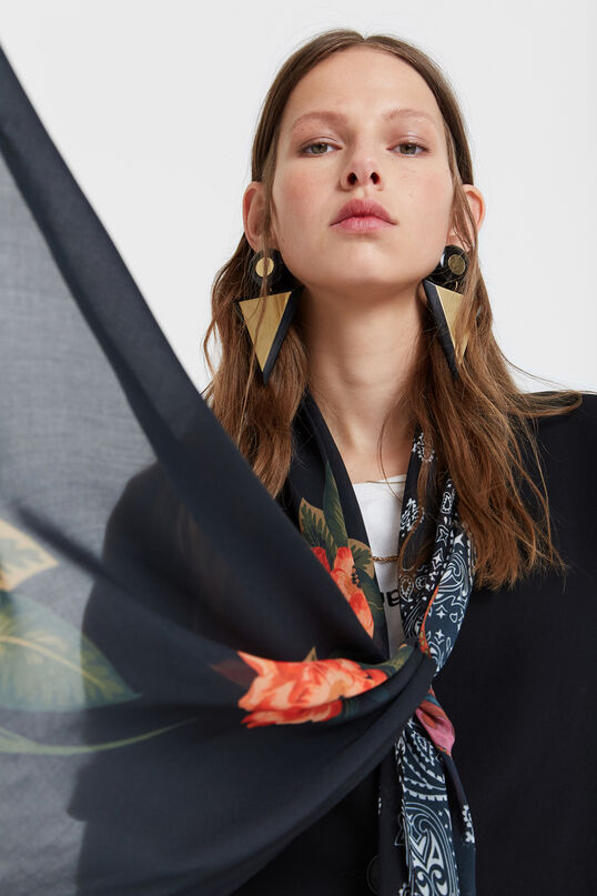Blazer with floral scarf   Desigual