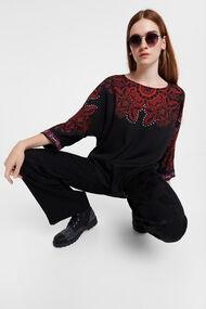 Boho floral blouse