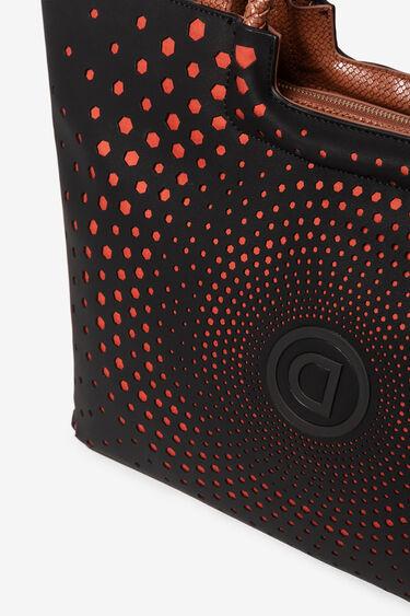Bag with logo and geometric spiral | Desigual