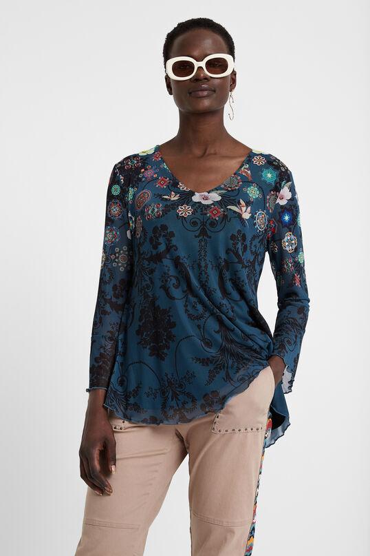 Multilayer flounced T-shirt | Desigual