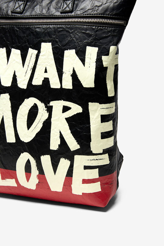 Rectangular backpack with lettering | Desigual