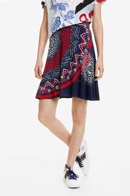 Mandalas Short Flared Skirt Nise