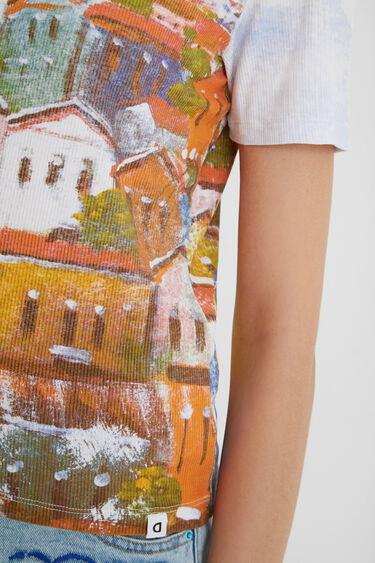Arty ribbed T-shirt | Desigual