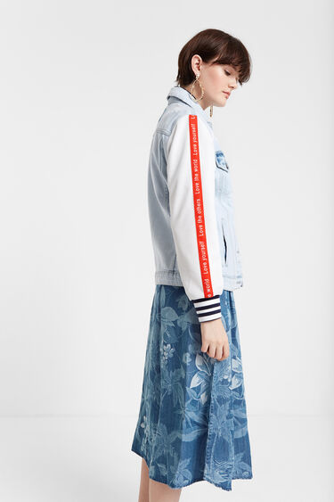 Jean and sporty patch jacket | Desigual