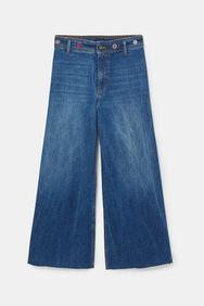 Wide leg ankle grazer jeans | Desigual