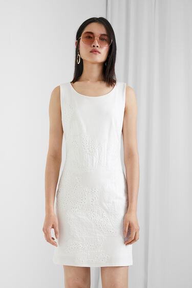 Big floral patch dress | Desigual