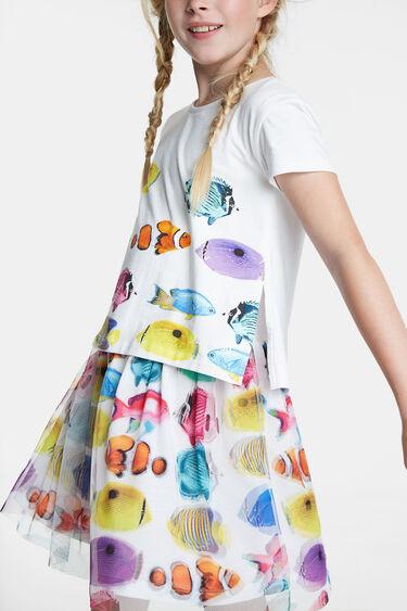Vestit de peixos i faldilla de tul | Desigual