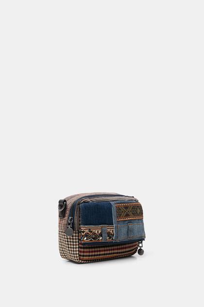 Patchwork mini-sling bag