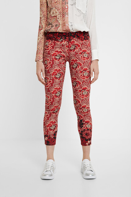 Skinny floral trousers