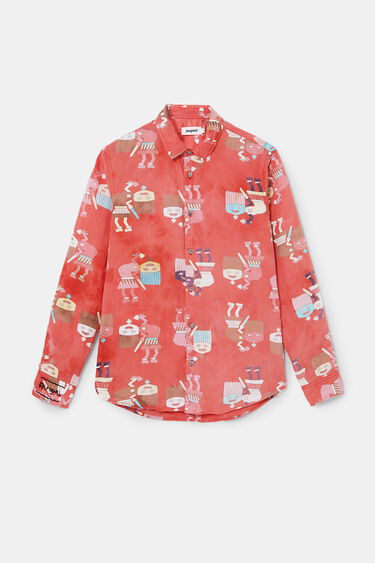 Shirt washed print | Desigual