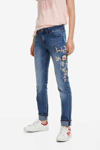 Jeans im Slim Fit Barcelona Flowers