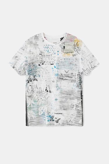 Camiseta algodón efecto revés | Desigual