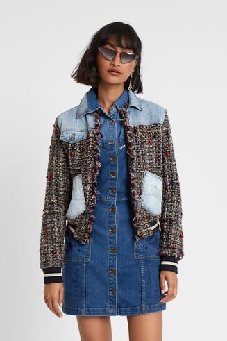 Varsity jean jacket