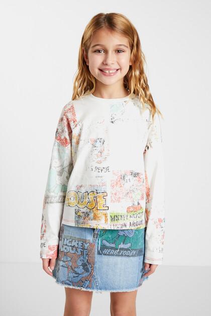 T-shirt met lange mouwen en Mickey Mouse-print
