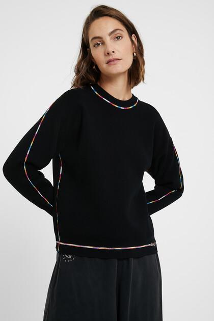 Rainbow jumper fine knit