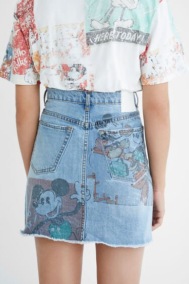 Minijupe en jean illustrations - Mickey Mouse | Desigual
